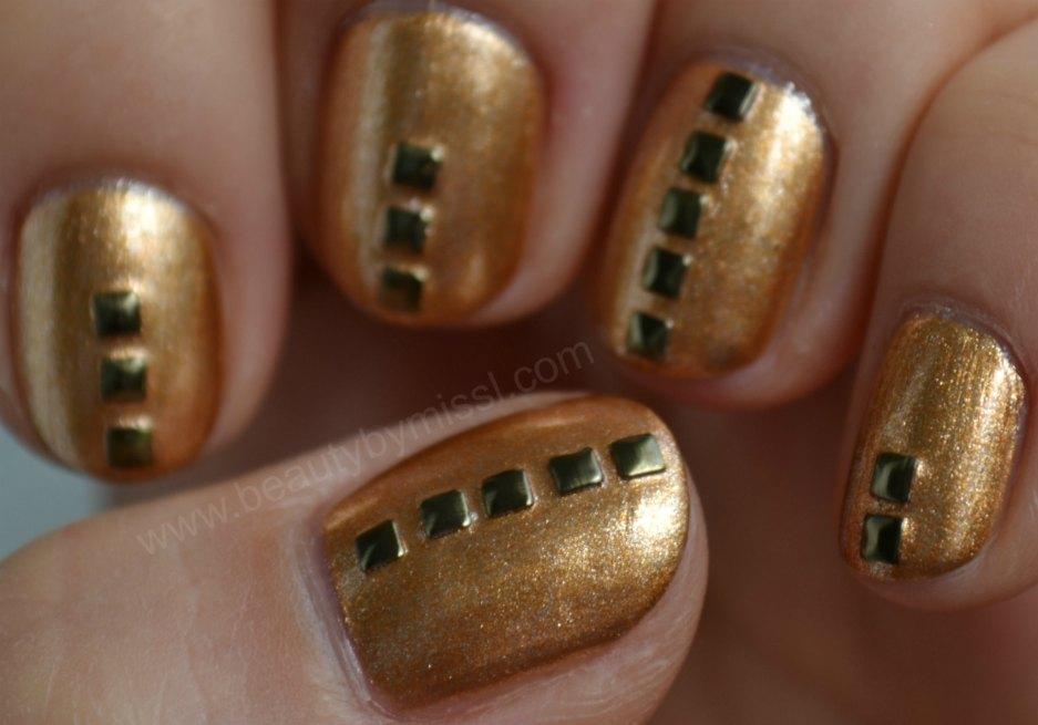 manicure, antique gold, notd, Fall manicure
