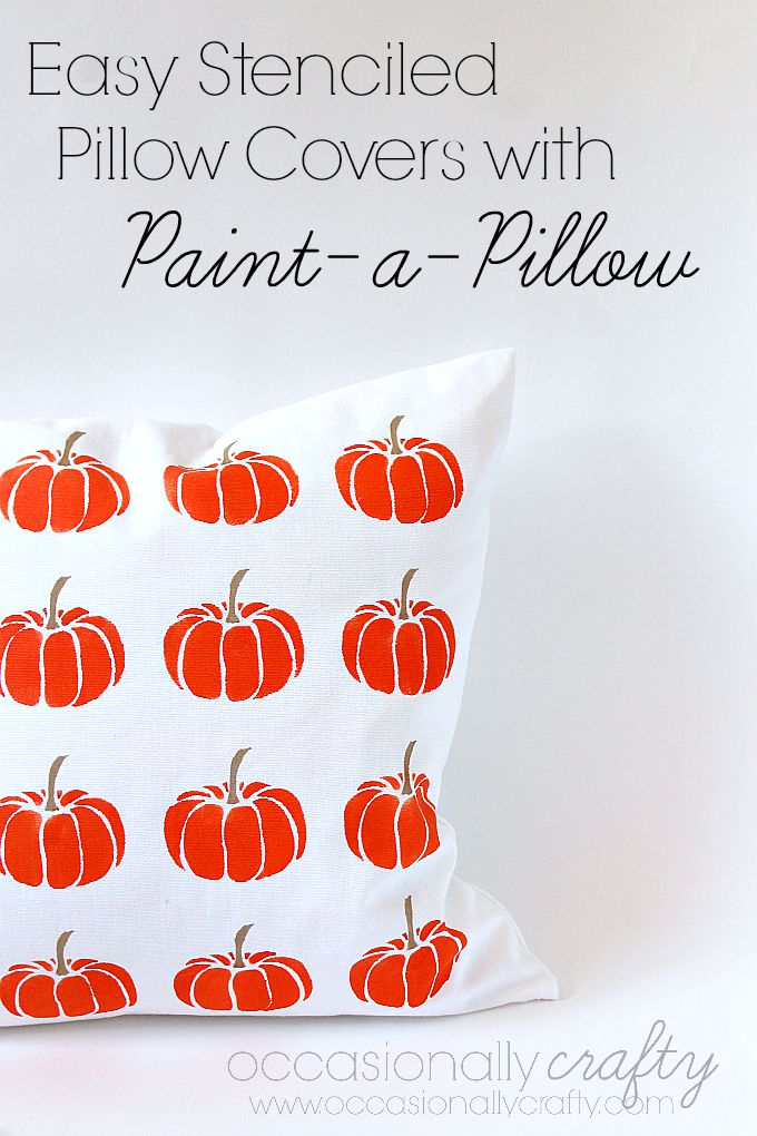 Design your own pillow covers for Halloween!