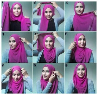 Foto Tutorial Cara Memakai Hijab Modern Dan Modis Terbaru 2015