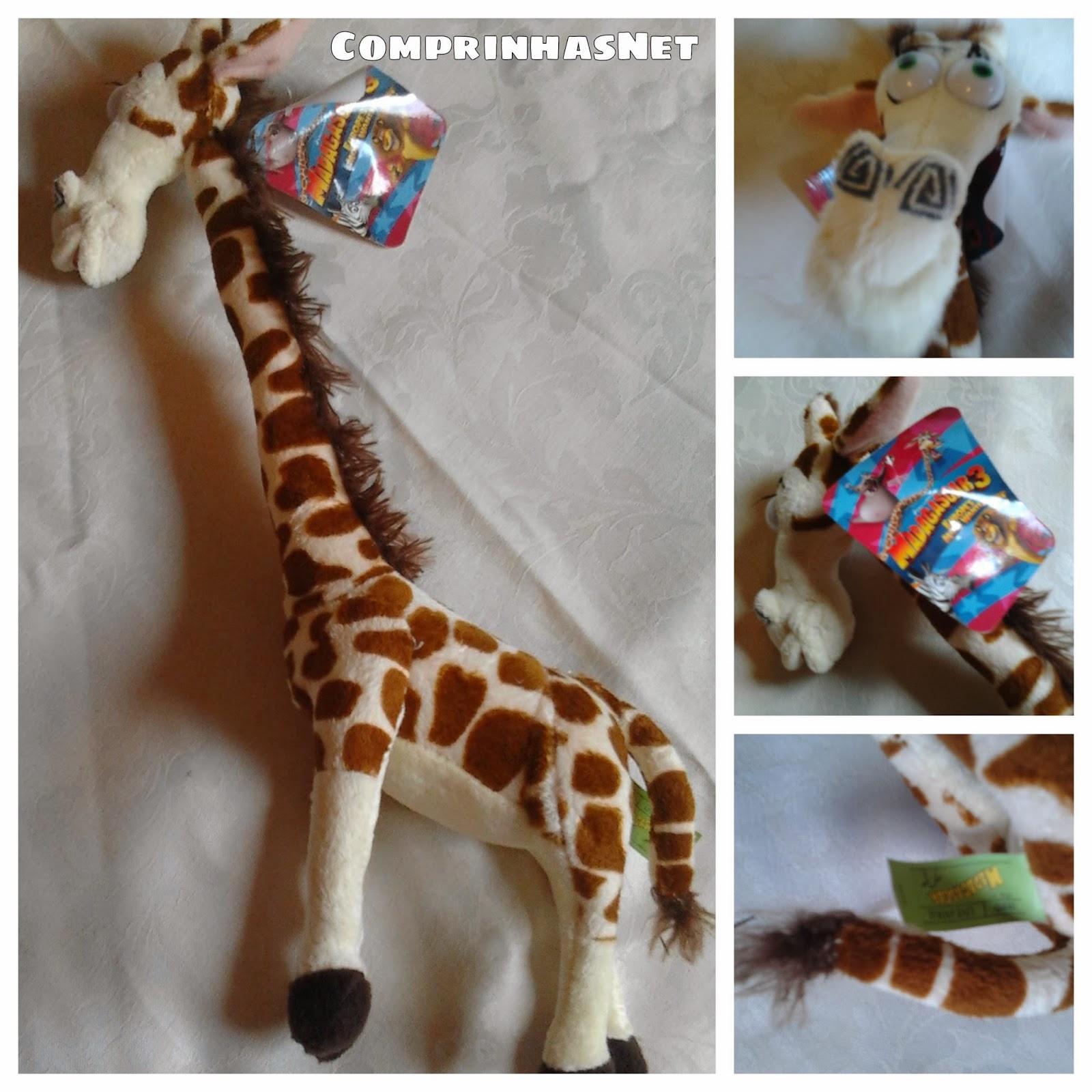 Bicho de pelúcia girafa
