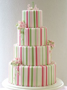 Wedding Cakes Pictures Pink And Green Wedding Cakes - Pastel Pink Wedding Cake
