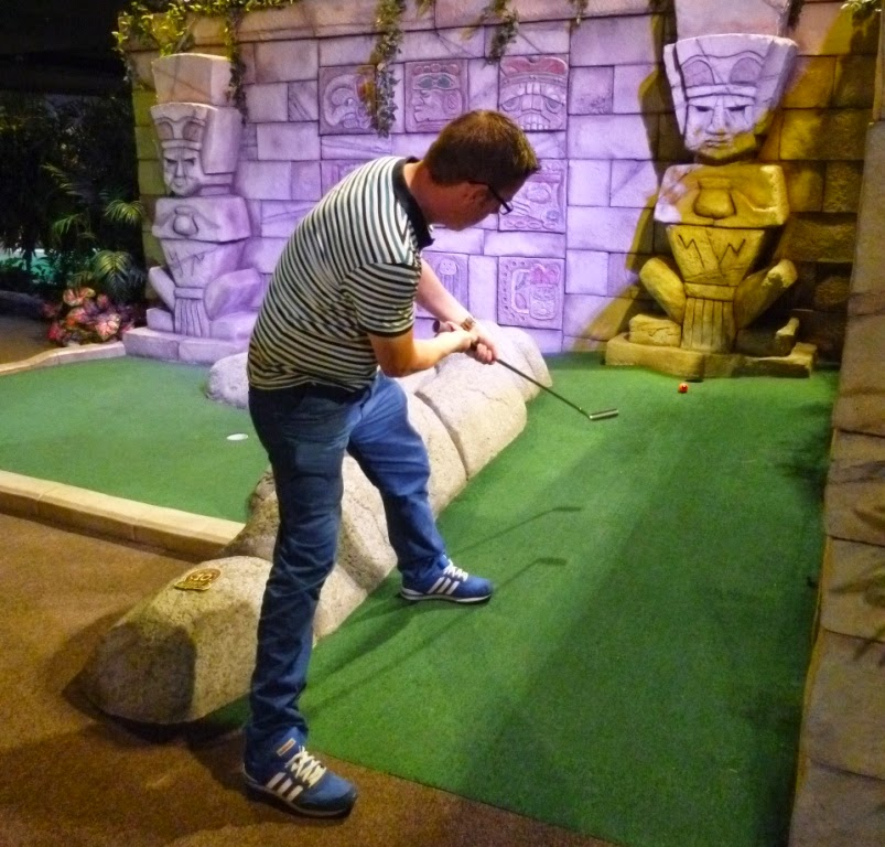 Richard Gottfried playing at The Lost City Adventure Golf course in Nottingham