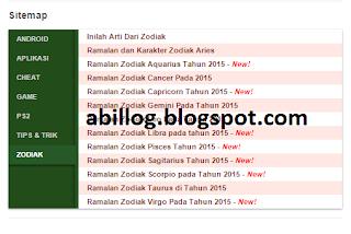 Tutorial Cara Membuat Daftar isi/Sitemap Tabulasi Di Blog