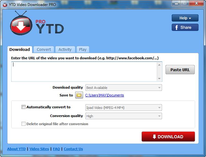 """عملاق التحميل موقع اليوتيوب بأعلى جودة """" YouTube Video Downloader 4.9.0.3 بوابة 2014,2015 YTD+Video+Downlo"""