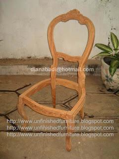 mebel klasik kursi klasik mahoni mentah supplier jepara kursi klasik unfinished mentah