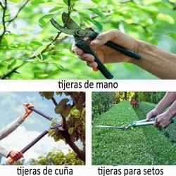 las tijeras de poda facilitan el trabajo y crean un mejor corte en la ramas