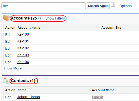 Once you click Show Filters link, you can enter any search criteria.