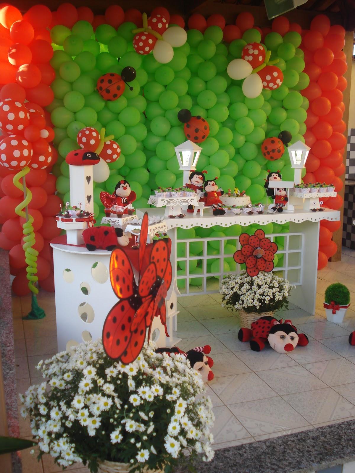 decoracao de festa infantil jardim das joaninhas:PINK & BLUE FESTAS: TEMA: Joaninha