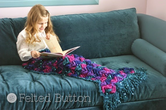 Mermaid Me Blanket (crochet pattern by Susan Carlson of Felted Button)