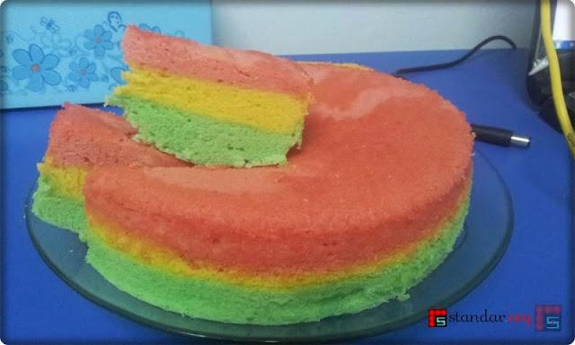 Rainbow Cake Perdana Buatan Istri-2
