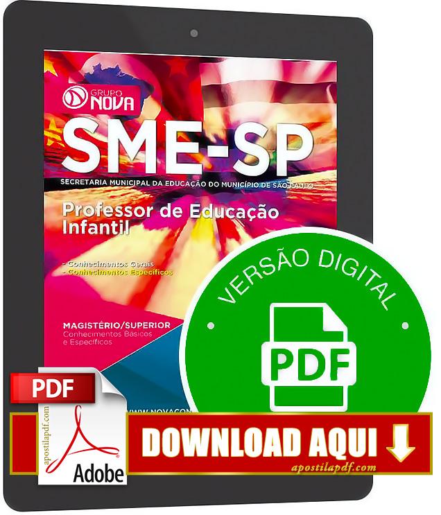 Apostila SME SP 2015 Professor de Educação Infantil PDF Download