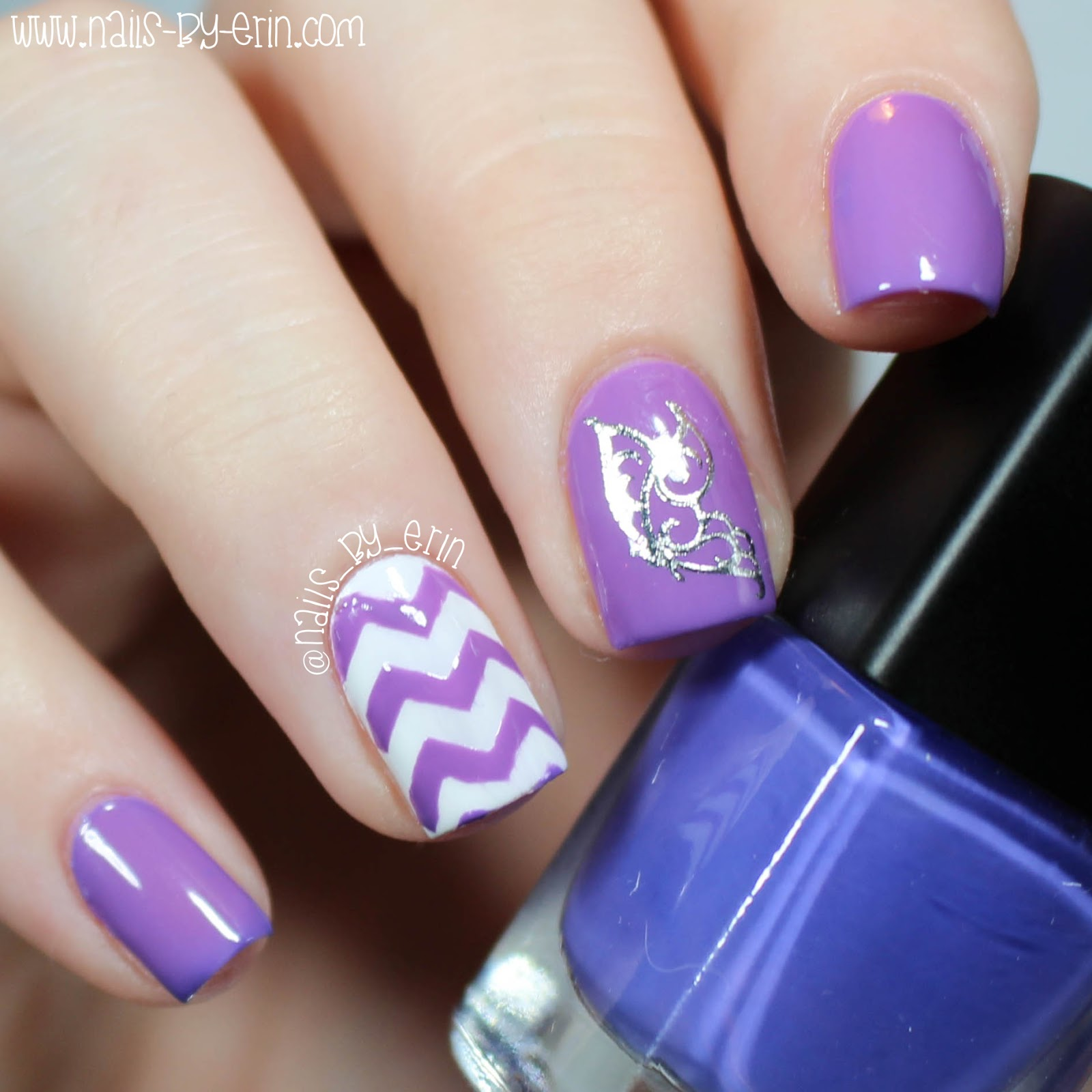 NailsByErin: Thermal Butterfly Decal Nails | Born Pretty Store Review