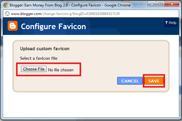 Add Custom Favicon
