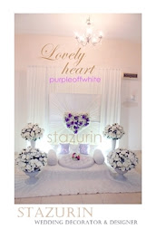 Pelamin Mini Eksklusif Pertunangan/Engagement/Pernikahan Pelamin Lovely warna pastel purple cream
