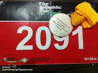 Republic Poly Run 2012, finisher medal