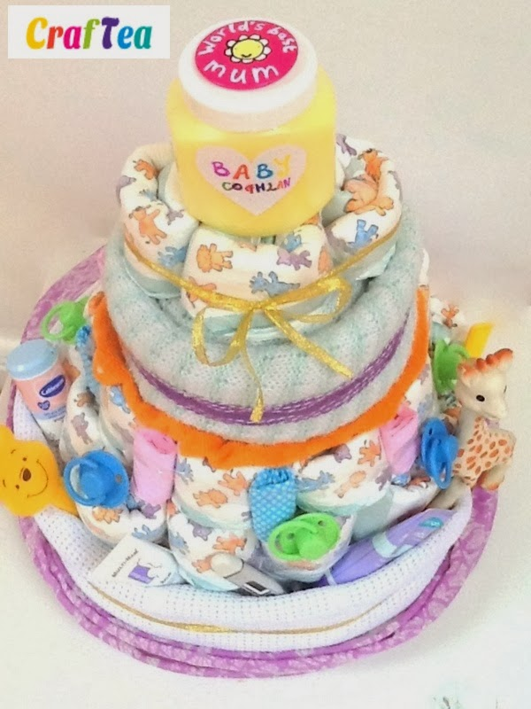 DIY Baby Shower Craft   Nappy Cake Gift For The Mum To Be!!
