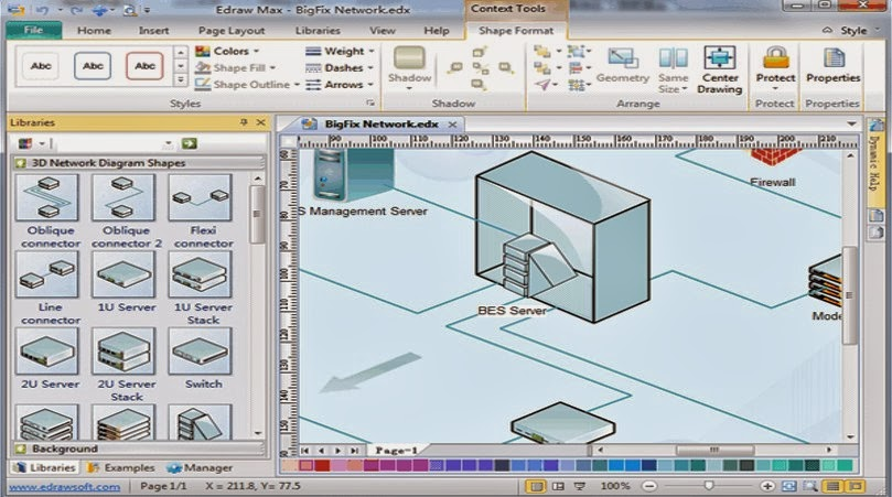 Redes software para el dise o de redes for Programa para dibujar en 3d