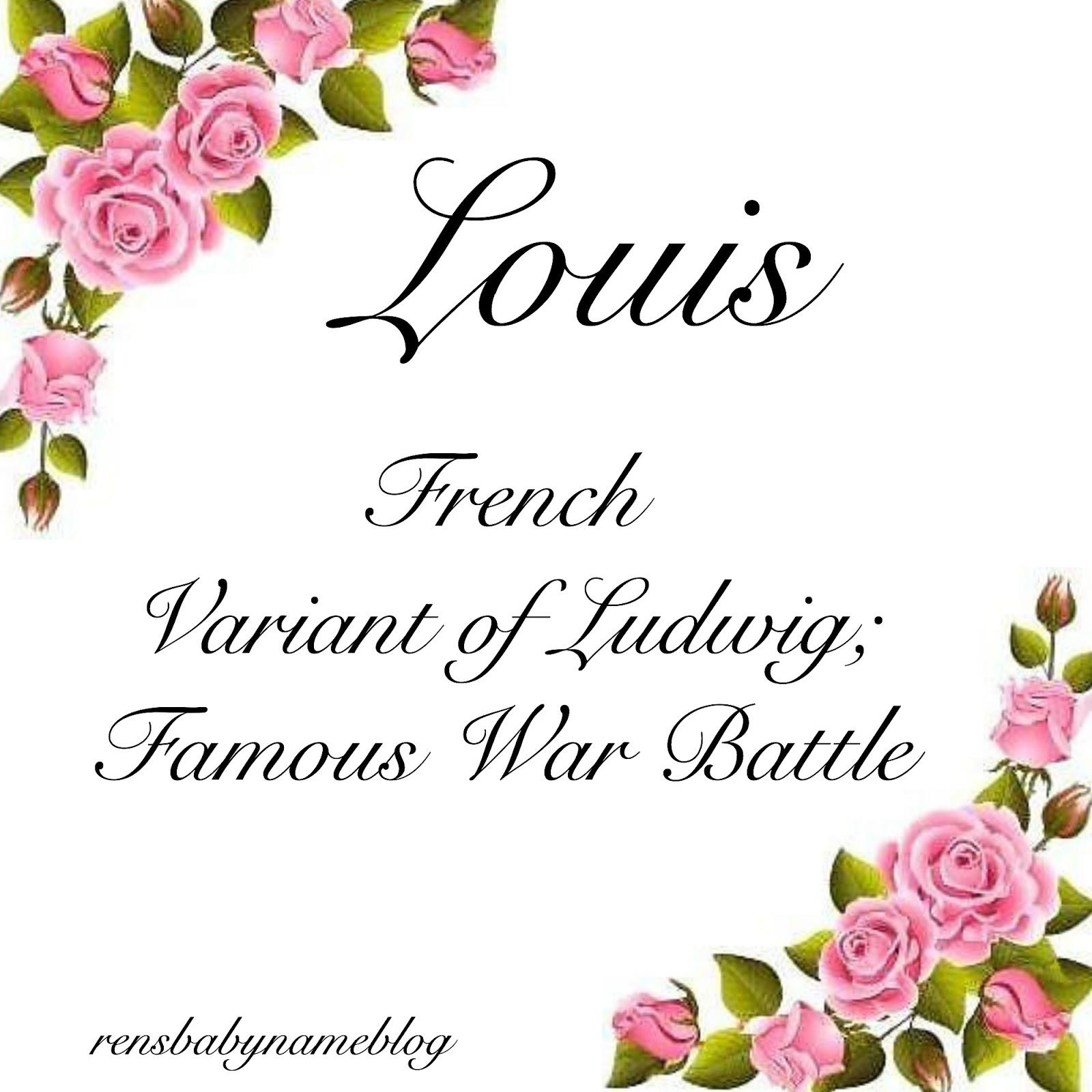 Ren's Baby Name Blog: Zelie and Louis