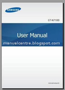 Samsung Galaxy Note 2 Manual Cover