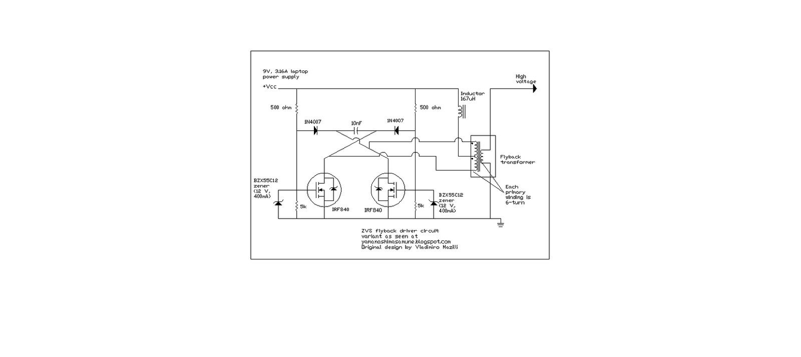 Flyback Transformer Wiring Diagram Library High Voltage