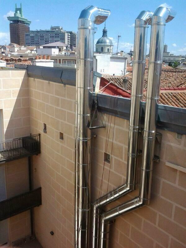 Tubos de chimenea instalar tubos y conductos chimeneas - Tubos para salida humos cocina ...