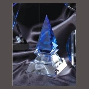 Cool Blue Crystal Spire Award