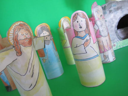 Religious easter craft for kids make a resurrection set its we all put nativity sets out at christmas time and im not sure why resurrection sets arent more popular so i made a printable version thats the fandeluxe Gallery