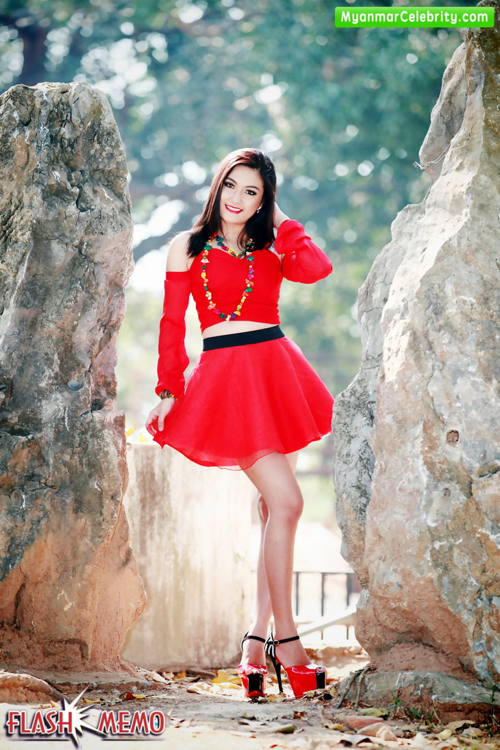 Model May Oo Paings Lovely Outdoor Fashion Photos