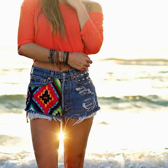 Lindos shorts jeans moda verão 2014