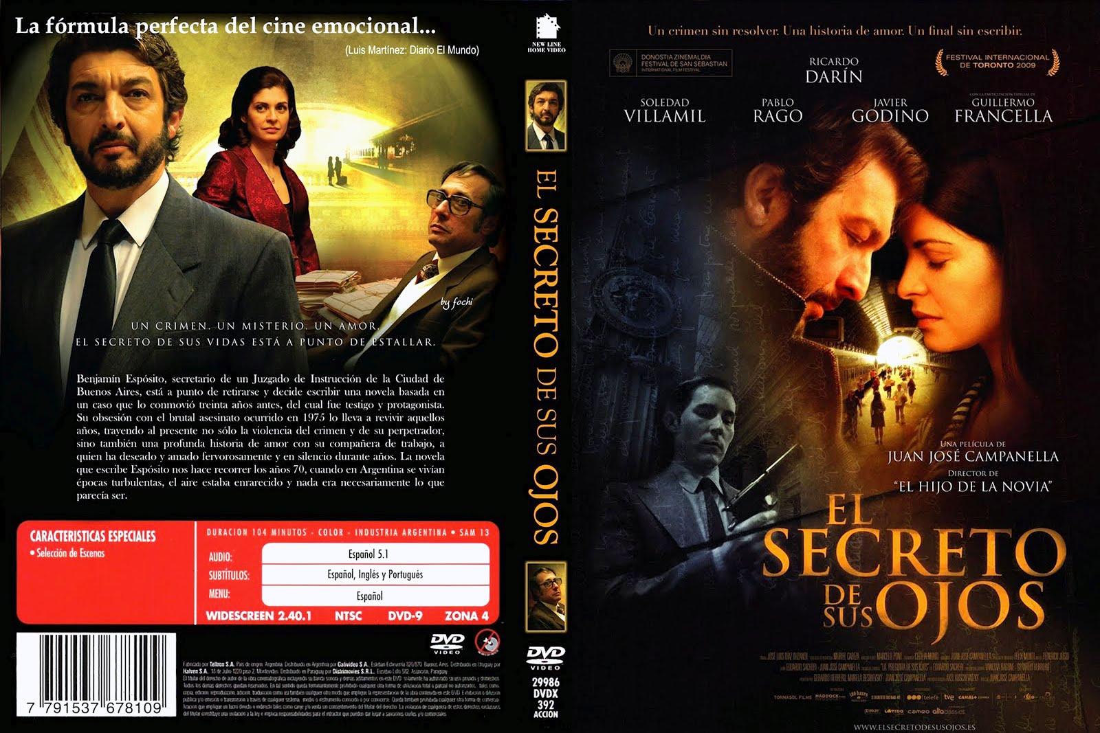 El secreto de sus ojos Dvd Front Cover