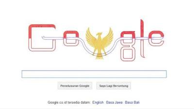 Google Ikut Merayakan Hari Kemerdekaan Indonesia ke-68