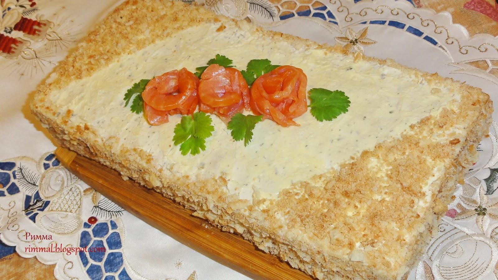 Торт наполеон рыбный рецепт с пошаговым фото