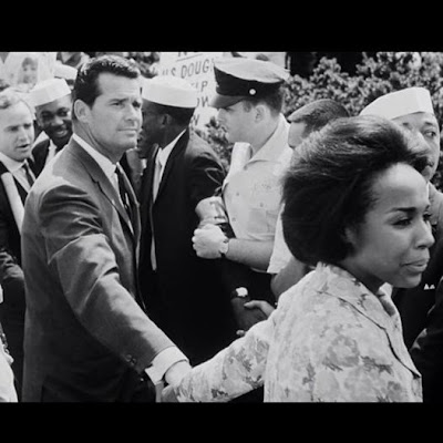 James Garner and Diahann Carroll at the March on Washington in 1963