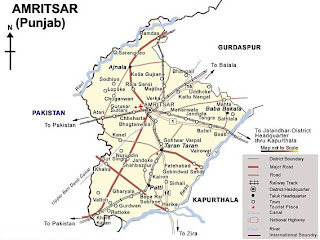 Map of Amritsar