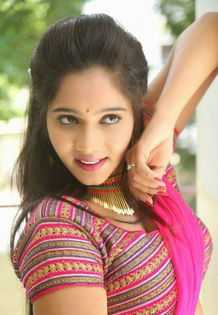 Mithraw in Sexy Saree Stills at Aloukika Telugu Movie