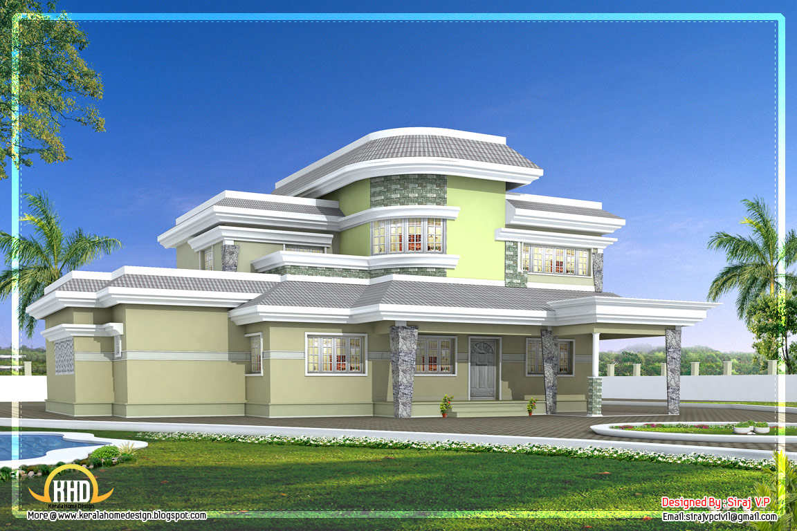 April 2012 kerala home design and floor plans for Modern unique house plans