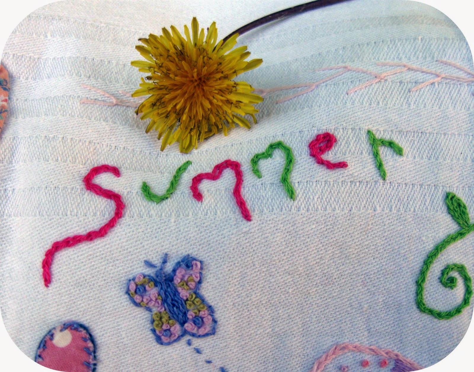вышивка лето