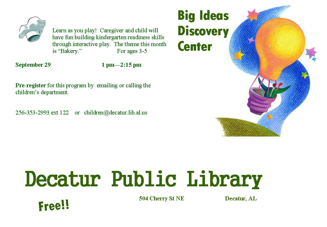 River City Readers for Kids: Big Ideas Discovery Center