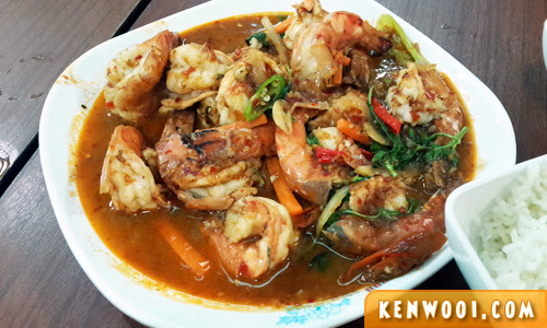 thai style prawn