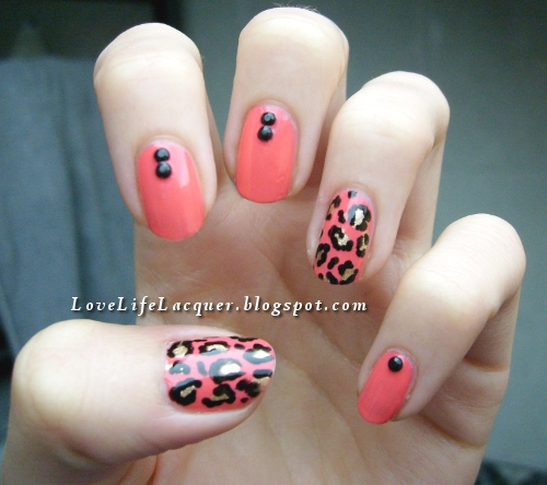 The Awesome Leopard print nail design orange and black Photo