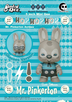 Toy2R - Mr. Pinkerton AniQee Blue 5 Inch Mini Qee by Scott Tolleson