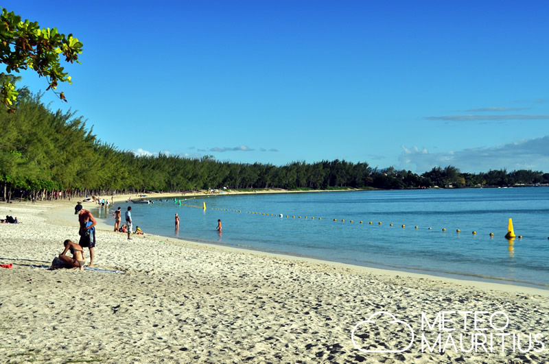 hawkers road at mont choisy beach mauritius