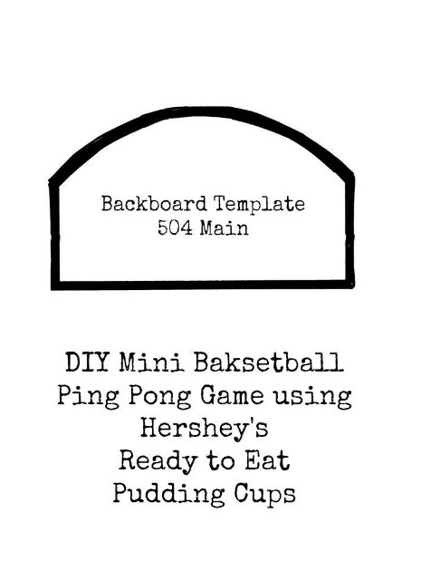 Basketball Backboard template
