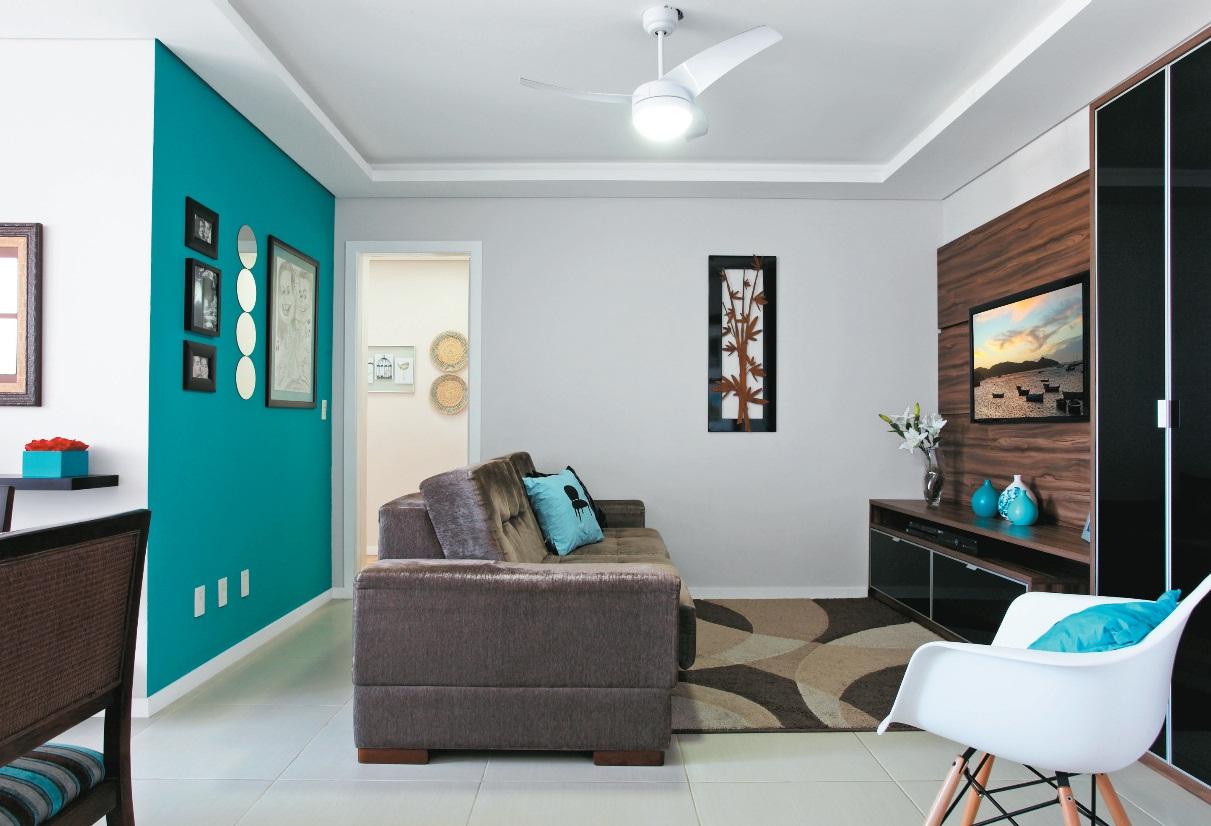 Sala De Estar En Azul ~ Plantar & Decorar  Dicas de Paisagismo e Decoração! Salas Azuis