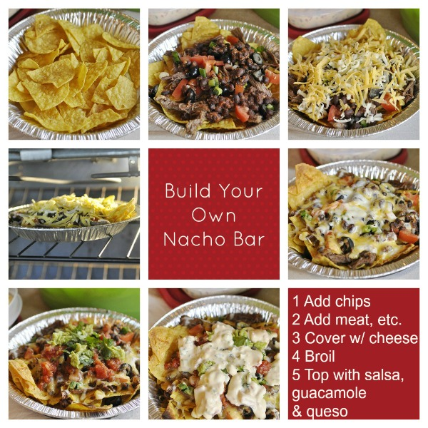 Creative Party Ideas by Cheryl: Nacho Bar for Superbowl Party!