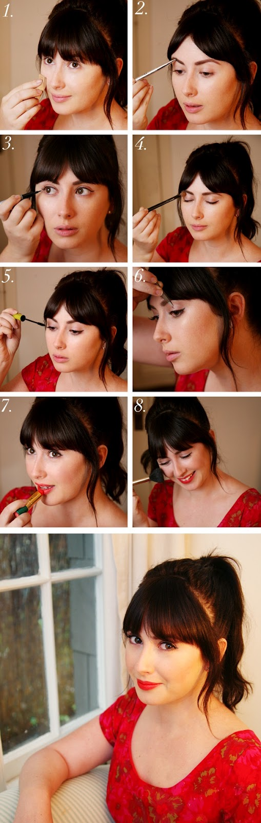 A woman world: 1950s Makeup step-by-step tutorial