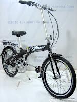 3 Sepeda Lipat PACIFIC Alloy Frame 7 Speed Shimano 20 Inci