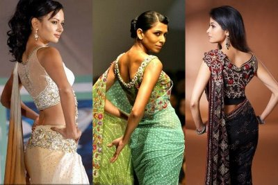 out latest saree blouse designs check out blouse back neck designs