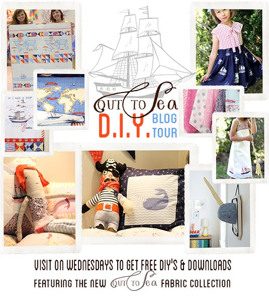 Tea Rose Home: Out to Sea DIY Blog Tour/ Tutorial~ Narwhal ...
