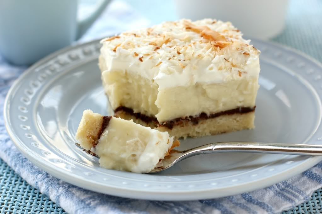 carolynn's recipe box: Chocolate and Coconut Cream Pie Bars